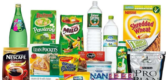 a selection of Nestlé products