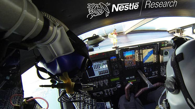 Nestlé food to fuel solar flight pilots