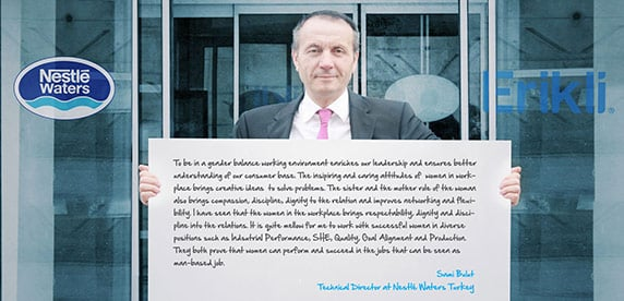 Sami Bulut, Technical Director at Nestlé Waters Turkey, shows his support for gender balance