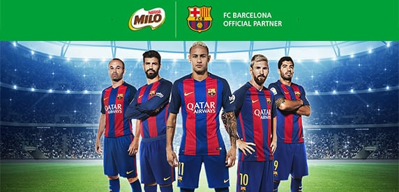 Nestlé Milo and FC Barcelona commit to promote healthier lives