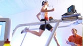 Athlete on treadmill