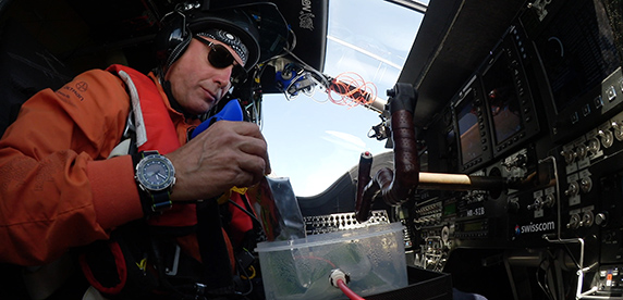 Solar Impulse pilot eating