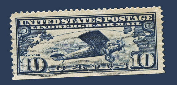 Spirit of St Louis stamp