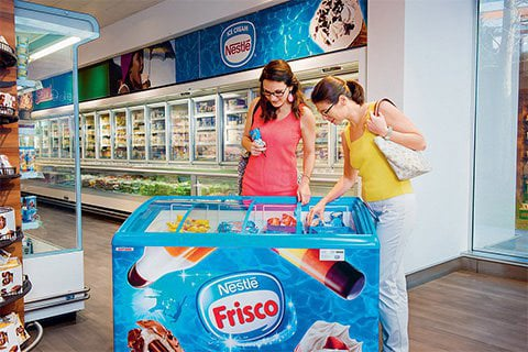 How can Nestlé eco freezers help tackle climate change?