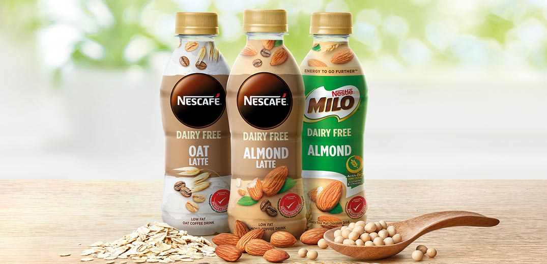 Milo and Nescafé dairy free products